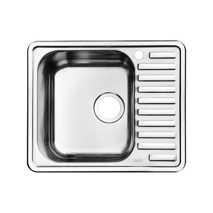 Мойка с выпуском арт. 011UPSOi84, нержавеющая сталь, шелк, чаша слева, 585*485, Strit S, IDDIS, STR58SLi77K