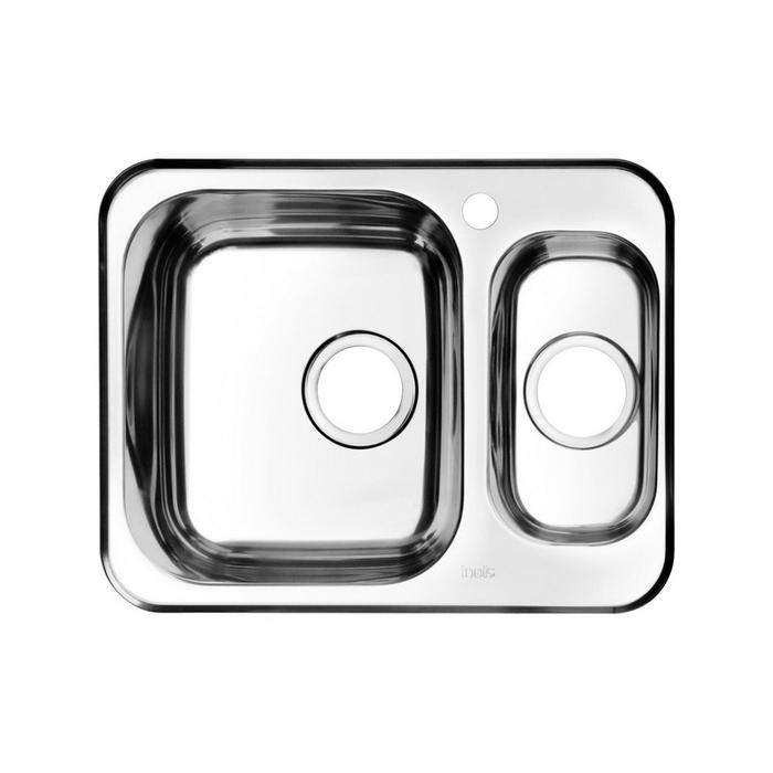 Мойка, нержавеющая сталь, полированная, 1 1/2, чаша слева, 605*480, Strit S, IDDIS, STR60PXi77