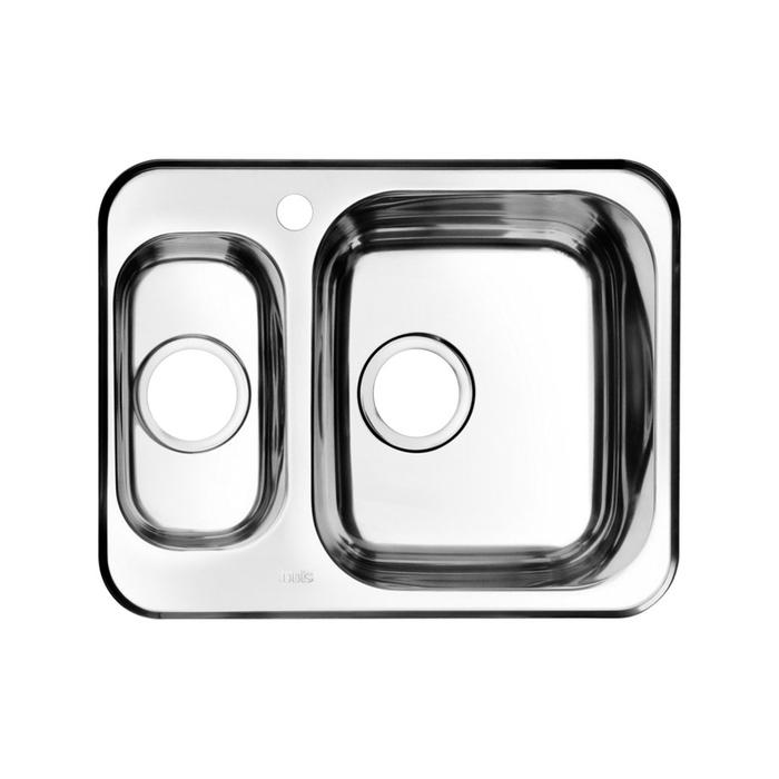 Мойка, нержавеющая сталь, полированная, 1 1/2, чаша справа, 605*480, Strit S, IDDIS, STR60PZi77