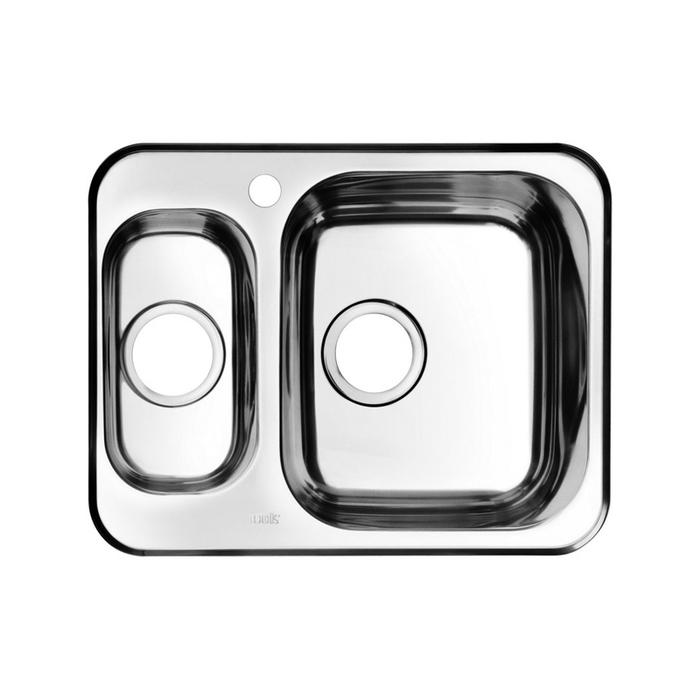 Мойка, нержавеющая сталь, шелк, 1 1/2, чаша справа, 605*480, Strit S, IDDIS, STR60SZi77