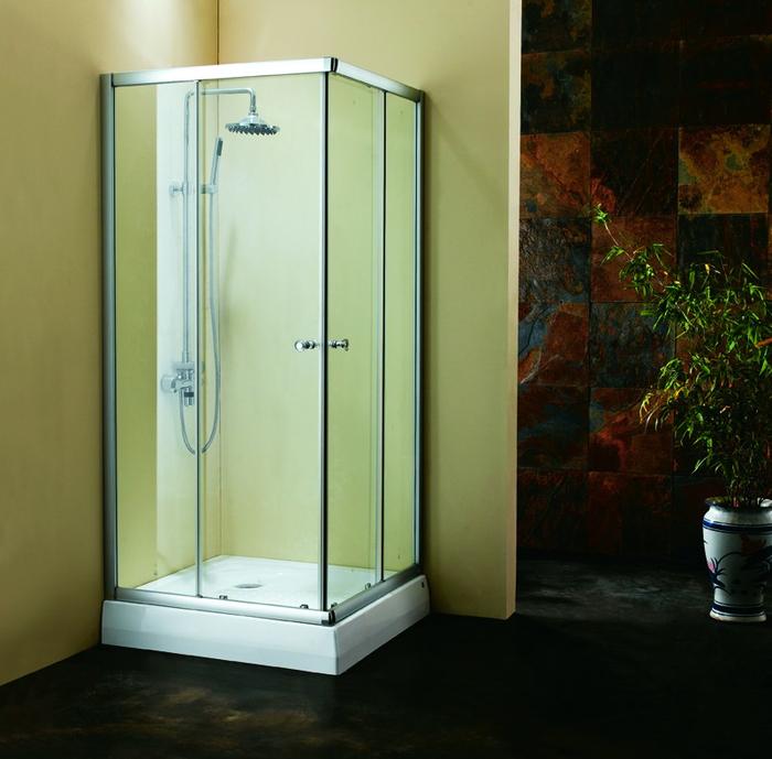 Дверки душ.квадрат (глянцевый хром) TC90BL