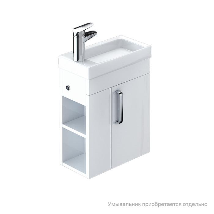 Тумба для ванной комнаты, подвесная, белая, 40 см, Torr, IDDIS, TOR40W1i95. Подходит умывальник 0014000U28