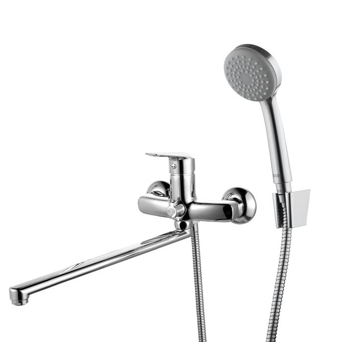 Смеситель для ванны с длинным изливом с керамическим дивертором, Torr, IDDIS, TORSBL2i10
