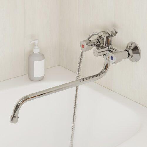 Смеситель для ванны с длинным изливом, Tring, Milardo, TRISB02M10