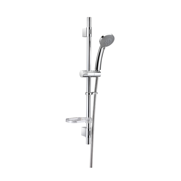 TSH1501 Душ.гарнитур(стойка 656мм,лейка 3F D80мм,шланг нерж.сталь 1,5м)