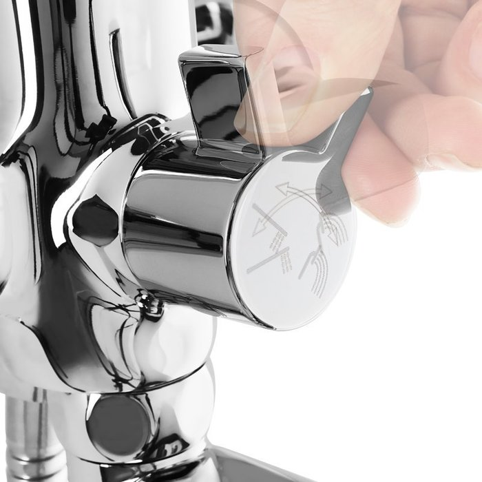 Смеситель для ванны с длинным изливом с керамическим дивертором, Ukon, Milardo, UKOSBLCM10
