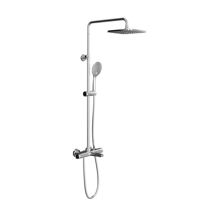 Смеситель для ванны с верхним душем и термостатом универсальный, Uniterm, IDDIS, UNISBBTi06