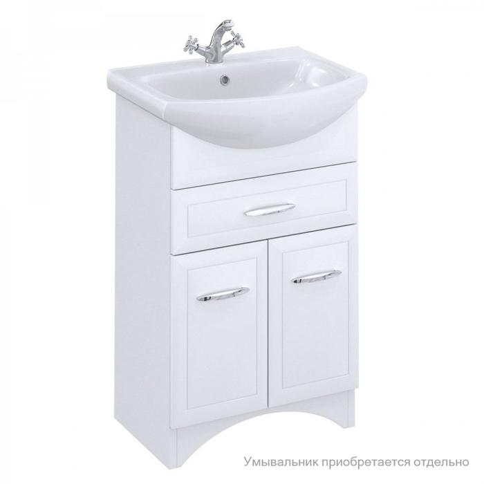 Тумба для ванной комнаты, напольная, белая, 55 см, Victoria, Milardo, VIC55W0M95. Подходит умывальник 0025500M28