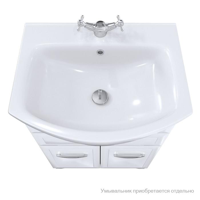 Тумба для ванной комнаты, напольная, белая, 65 см, Victoria, Milardo, VIC65W1M95. Подходит умывальник 0026500M28