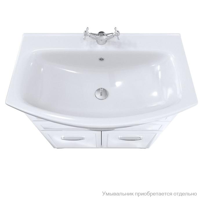 Тумба для ванной комнаты, напольная, белая, 75 см, Victoria, Milardo, VIC75W1M95. Подходит умывальник 0027500M28