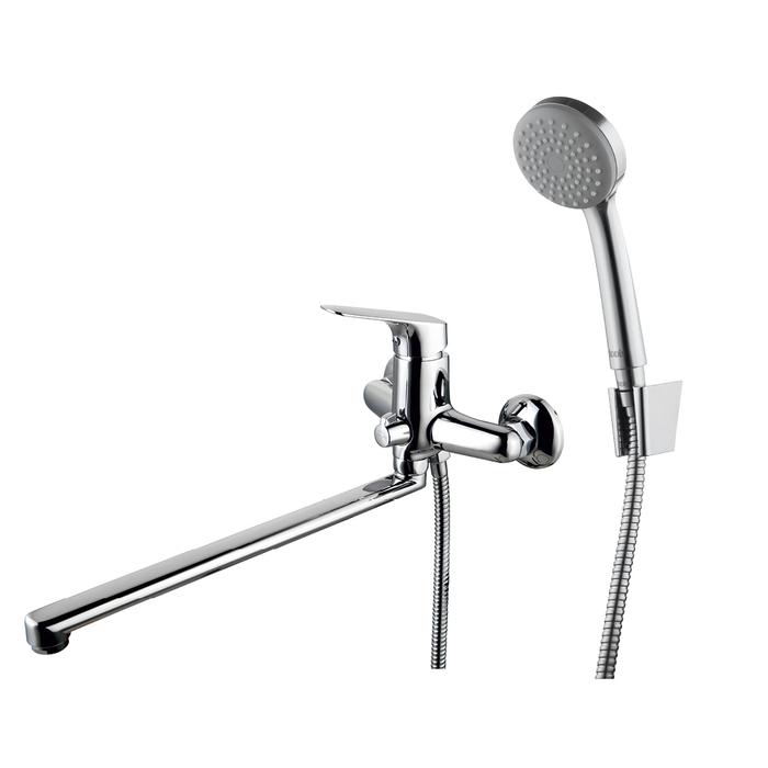 Смеситель для ванны с длинным изливом с керамическим дивертором, Vinsente, IDDIS, VINSBL2i10