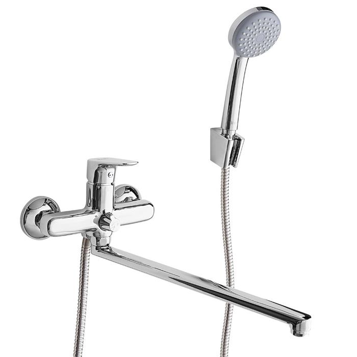 Смеситель для ванны с длинным изливом с керамическим дивертором Zodiac, IDDIS, ZODSBL2i10
