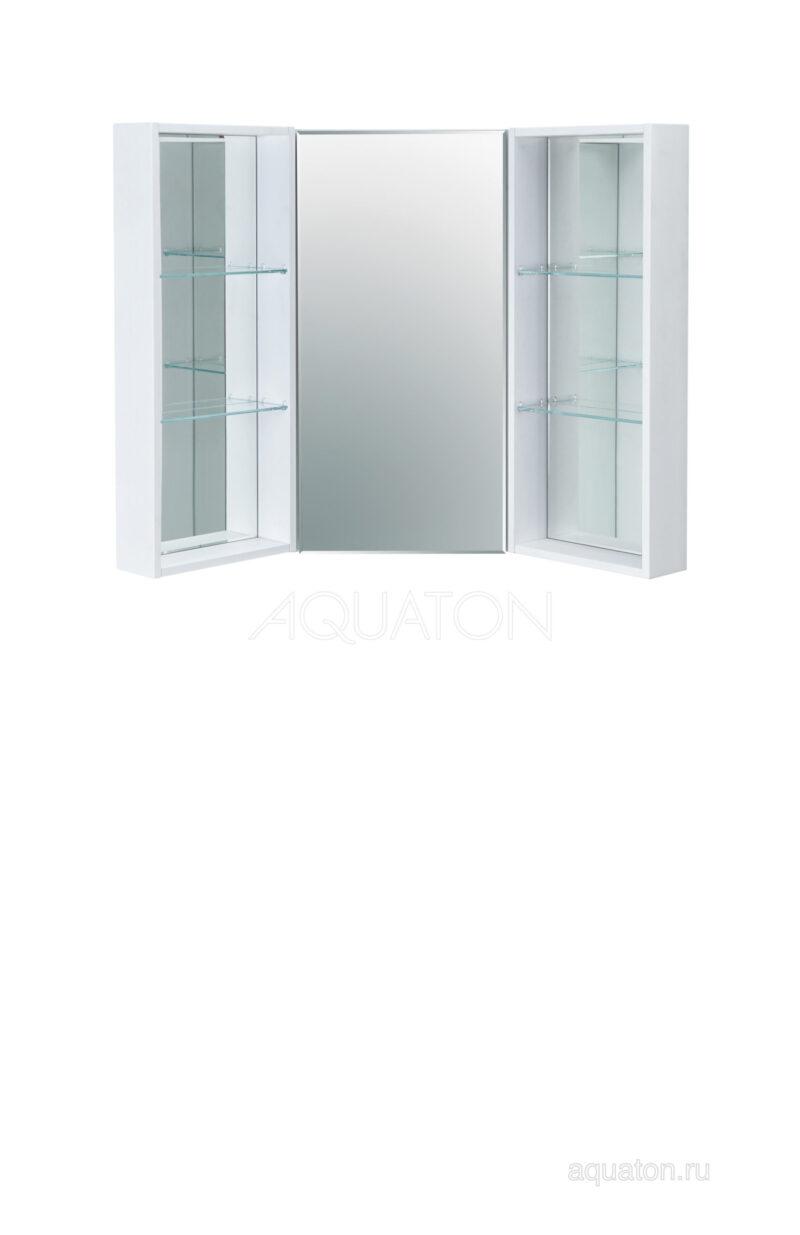 Зеркальный шкаф Aquaton Кантара дуб полярный 1A205702ANW70