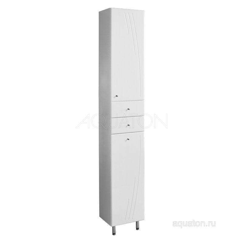 Шкаф - колонна Aquaton Минима М с бельевой корзиной правая белый 1A132303MN01R