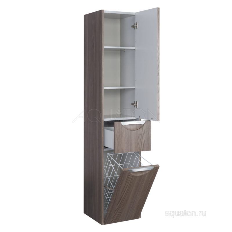 Шкаф - колонна Aquaton Сильва правый дуб макиато 1A215603SIW5R