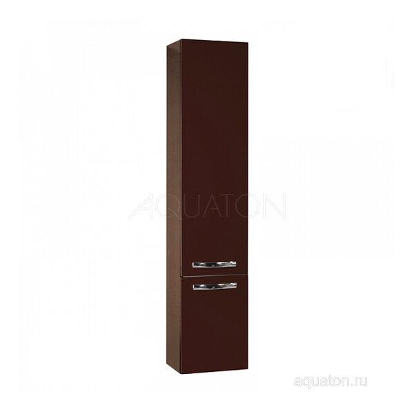 Шкаф - колонна Aquaton Ария М подвесная темно-коричневая 1A124403AA430
