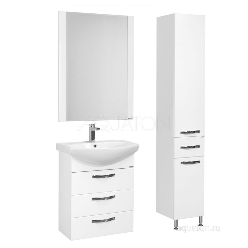 Шкаф - колонна Aquaton Ария Н белый 1A124303AA010