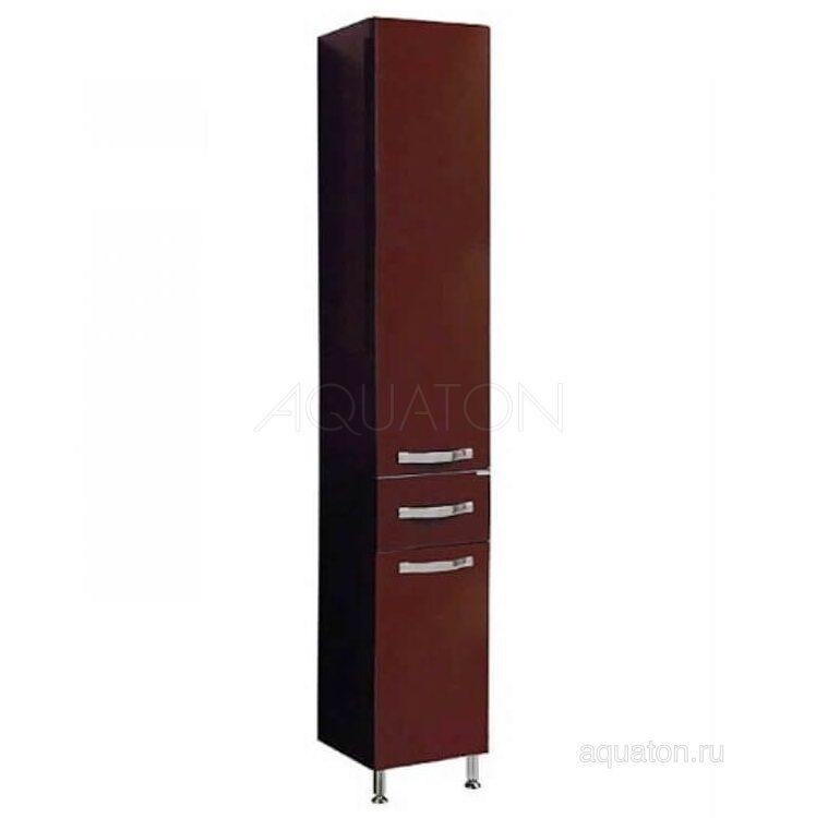 Шкаф - колонна Aquaton Ария Н темно-коричневая 1A124303AA430