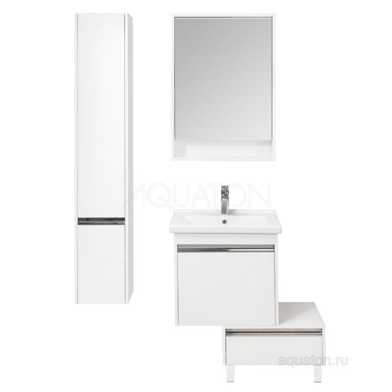 Шкаф - колонна Aquaton Капри правый белый глянец 1A230503KP01R