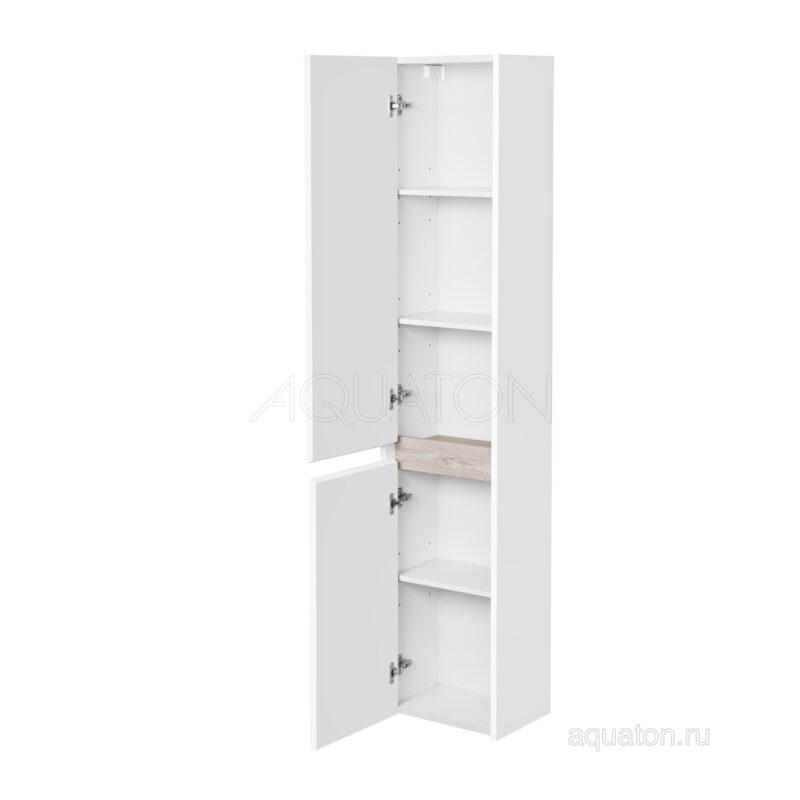 Шкаф - колонна Aquaton Нортон белая левая 1A249403NT01L