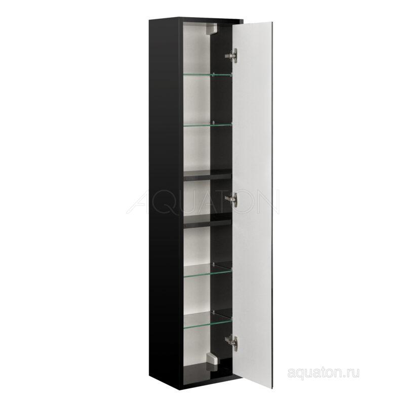 Шкаф - колонна Aquaton Римини черный глянец 1A234703RN950 NEW