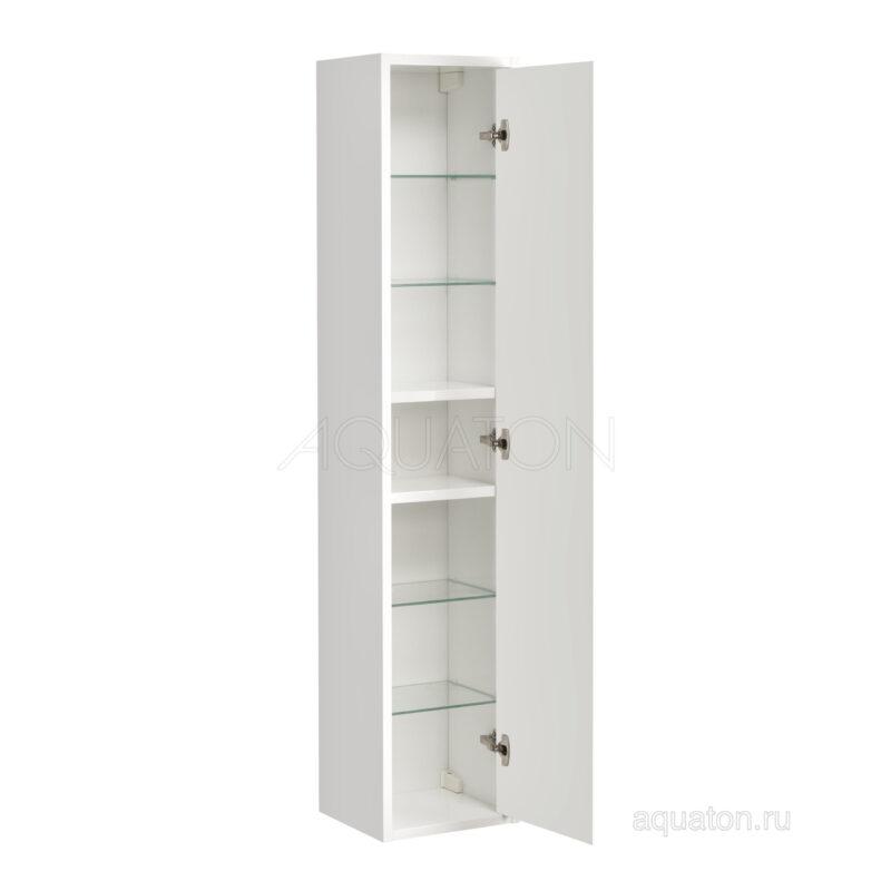 Шкаф - колонна Aquaton Римини подвесная белый 1A134603RN010