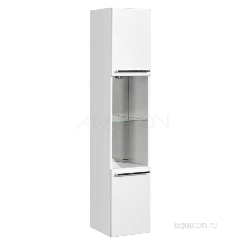 Шкаф - колонна Aquaton Севилья подвесная белый жемчуг 1A126603SEG30