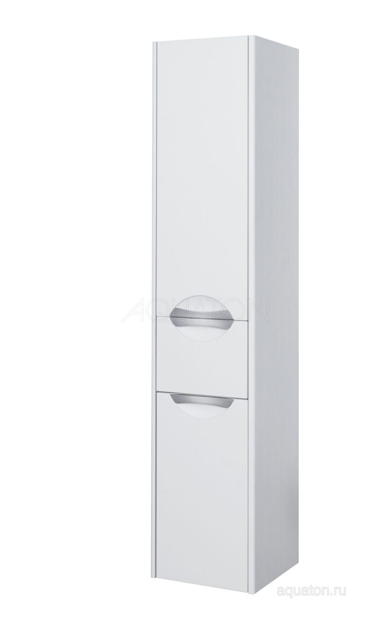 Шкаф - колонна Aquaton Сильва левый дуб полярный 1A215603SIW7L