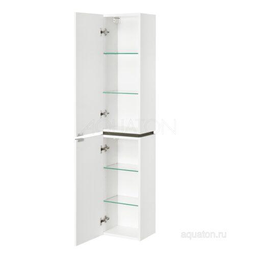 Шкаф - колонна Aquaton Скай PRO белый глянец левый 1A238603SY01L