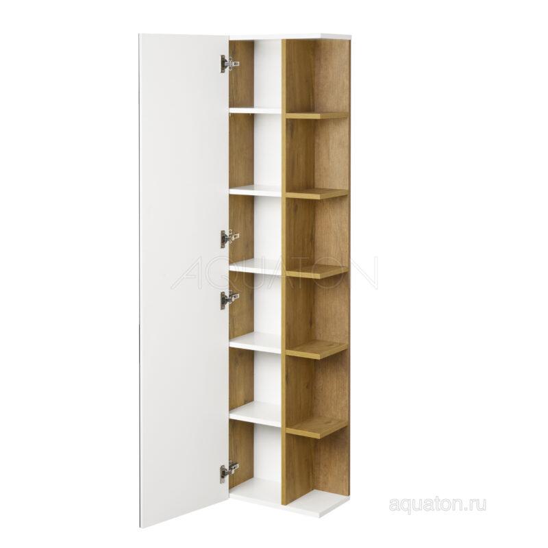 Шкаф - колонна Aquaton Сканди с зеркалом белый