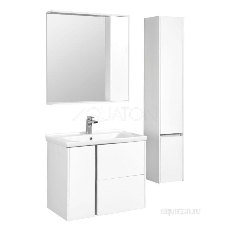 Шкаф - колонна Aquaton Стоун левый белый 1A228403SX01L