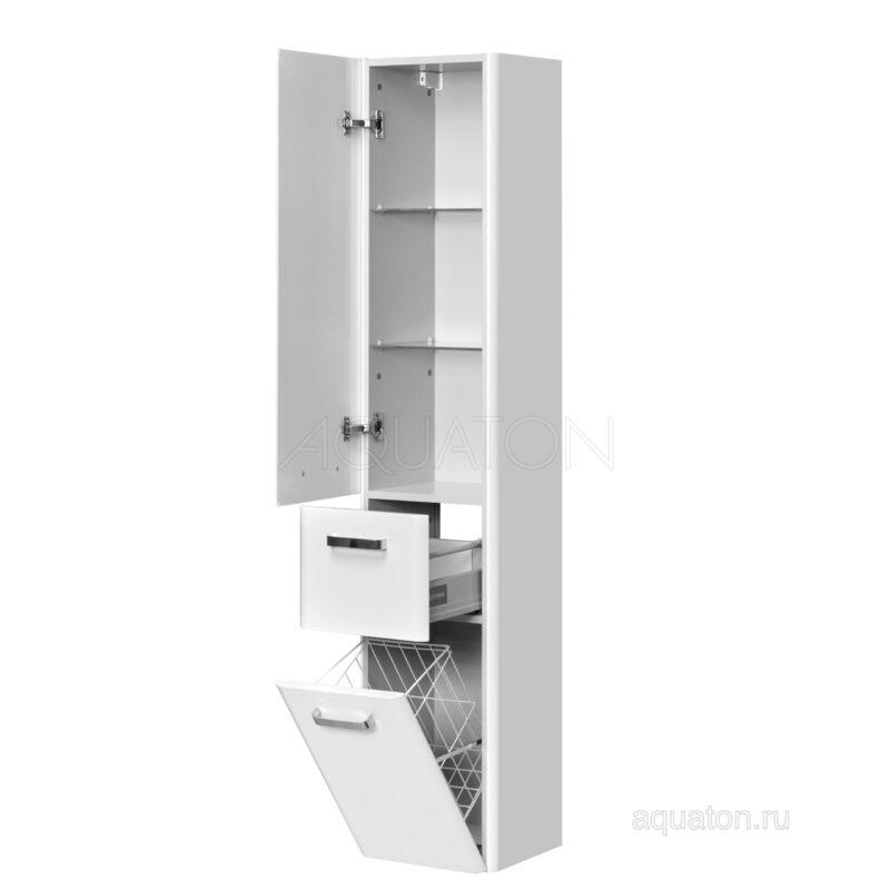 Шкаф - колонна Aquaton Валенсия левая белый жемчуг подвесной 1A123803VAG3L