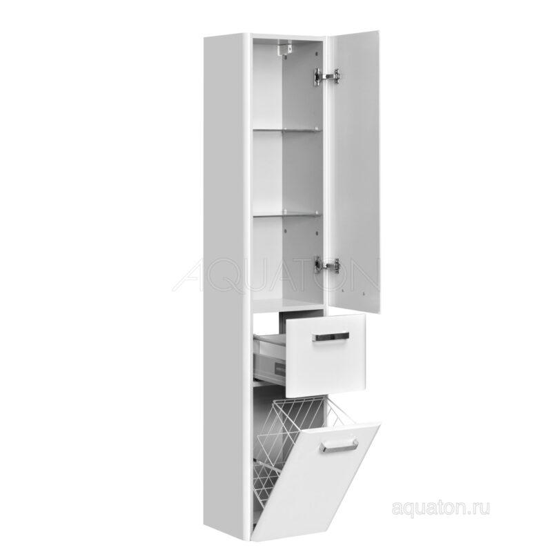 Шкаф - колонна Aquaton Валенсия прав белый жемчуг подвесной 1A123803VAG3R