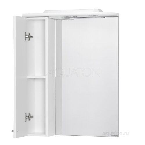 Зеркальный шкаф Aquaton Джимми 57 левый белый 1A034002DJ01L
