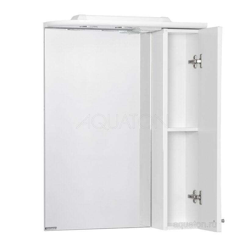 Зеркальный шкаф Aquaton Джимми 57 правый белый 1A034002DJ01R