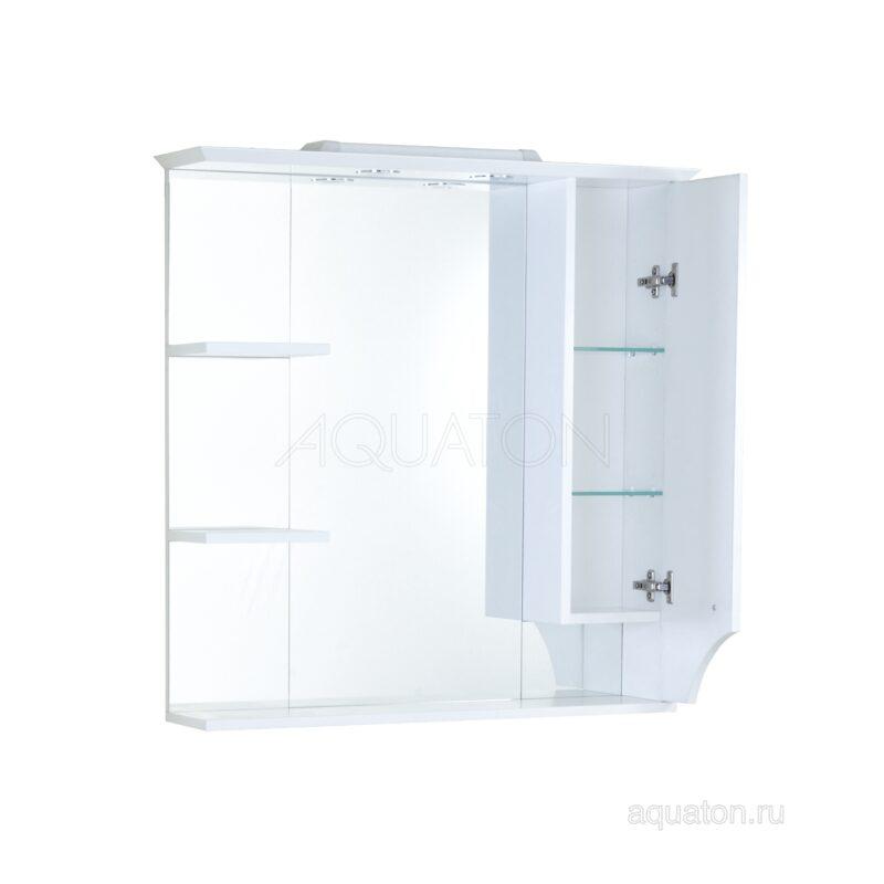 Зеркальный шкаф Aquaton Элен 85 белый 1A218802EN010