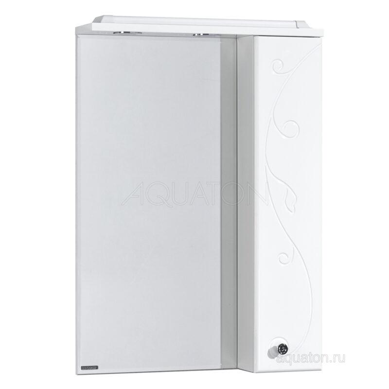 Зеркальный шкаф Aquaton Лиана 60 правый белый 1A162702LL01R