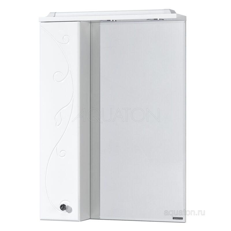 Зеркальный шкаф Aquaton Лиана 65 левый белый 1A166202LL01L