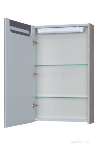 Зеркальный шкаф Aquaton Сильва 50 дуб фьорд 1A215502SIW6L
