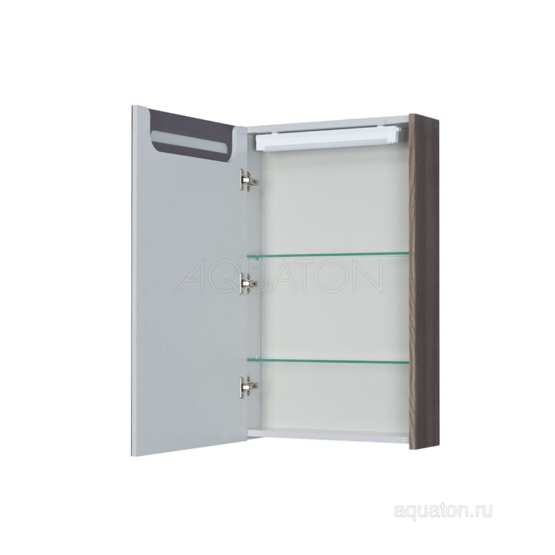 Зеркальный шкаф Aquaton Сильва 50 дуб макиато 1A215502SIW5L