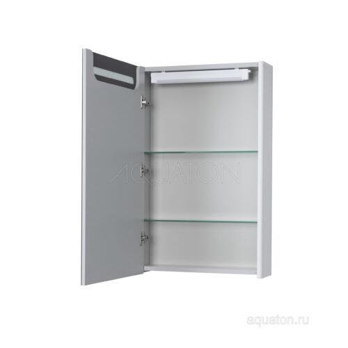 Зеркальный шкаф Aquaton Сильва 50 дуб полярный 1A215502SIW7L