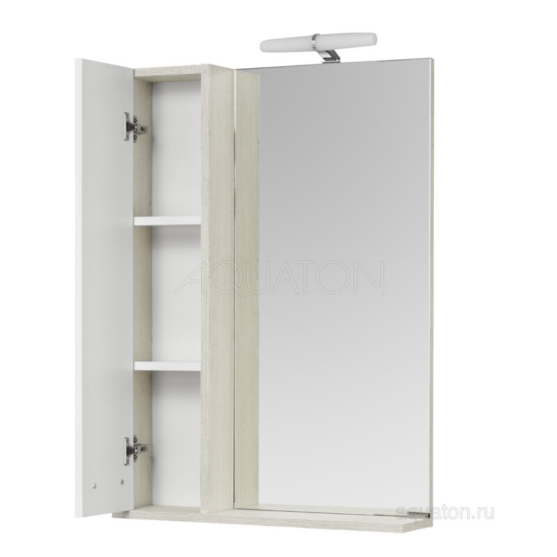 Зеркальный шкаф Aquaton Бекка PRO 60 белый