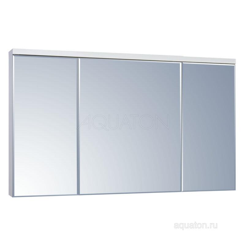 Зеркальный шкаф Aquaton Брук 120 белый 1A200802BC010
