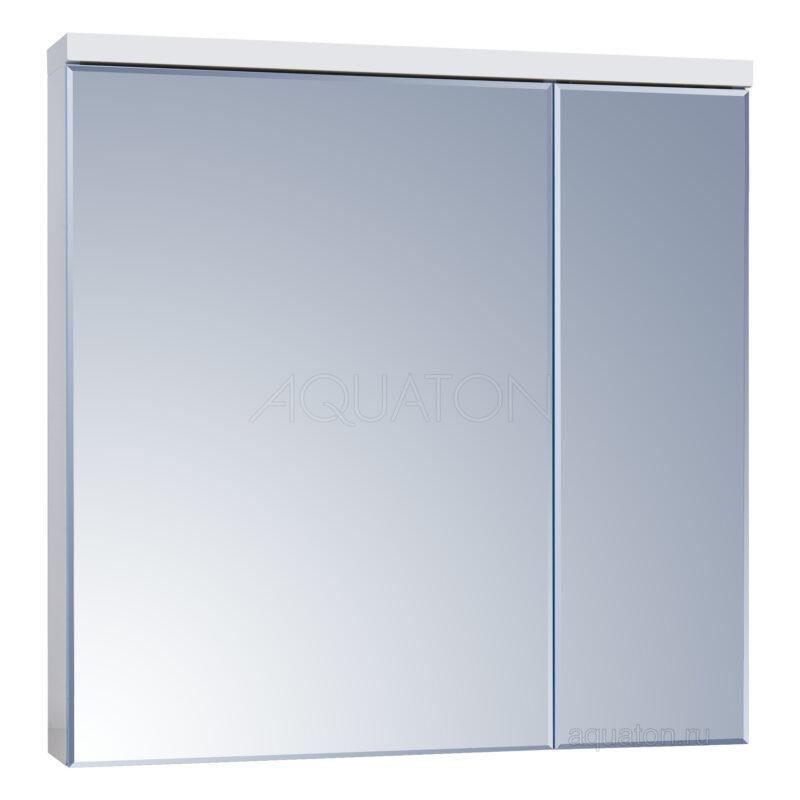 Зеркальный шкаф Aquaton Брук 80 белый 1A200602BC010