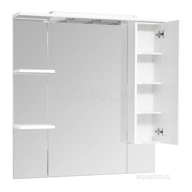 Зеркальный шкаф Aquaton Эмили 105 правый белый 1A008602EM01R