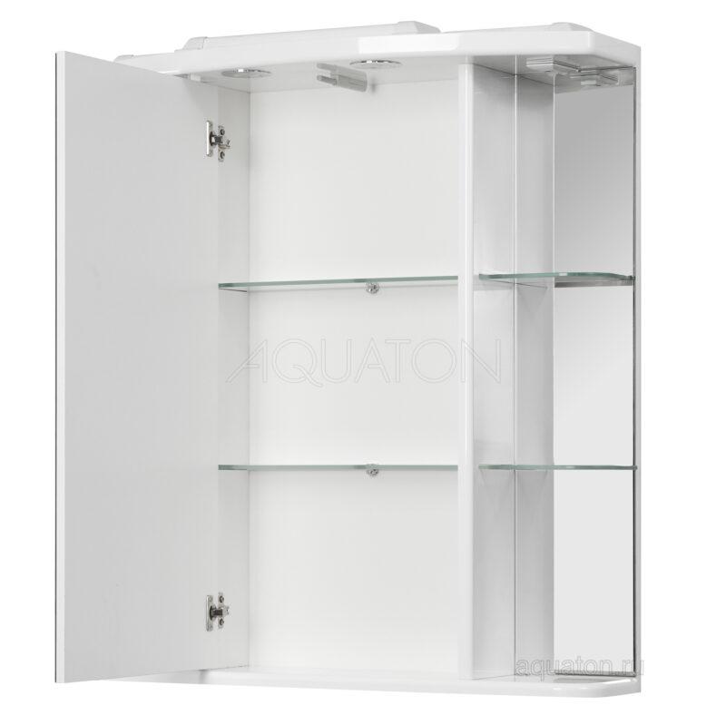 Зеркальный шкаф Aquaton Эмили 80 белый 1A002702EM010