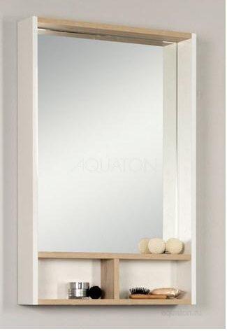 Зеркальный шкаф Aquaton Йорк 50 бежевый