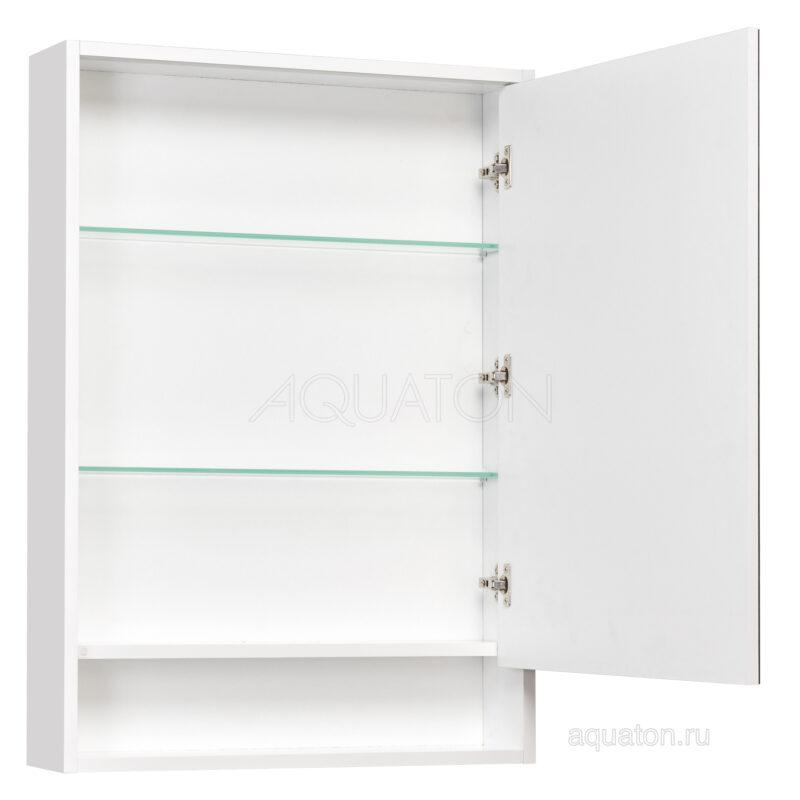 Зеркальный шкаф Aquaton Капри 60 белый глянец 1A230302KP010