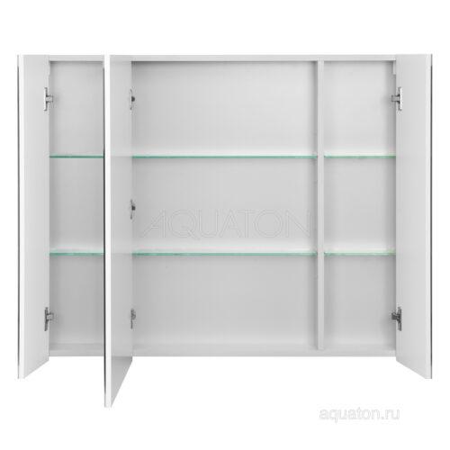 Зеркальный шкаф Aquaton Нортон 100 белый 1A249302NT010