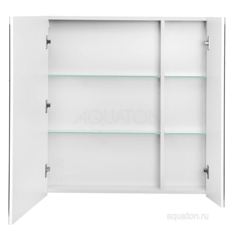 Зеркальный шкаф Aquaton Нортон 80 белый 1A249202NT010